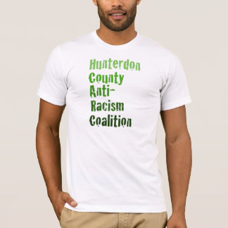 Men's Hunterdon Anti-Racism Green Text T-Shirt