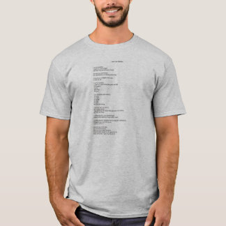"Mens ""I Am The Shadow"" Poem T-Shirt"