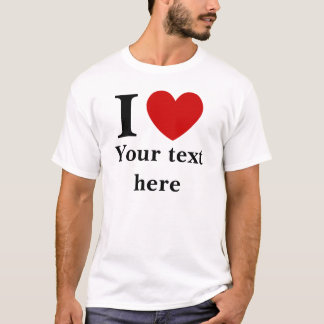 Men's I Heart Shirt (Personalize with your text)