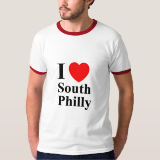 MENS I LOVE SOUTH PHILLY RINGER SHIRT - Customized