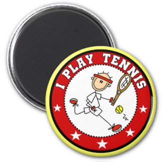 Mens I Play Tennis Tshirts and Gifts 2 Inch Round Magnet