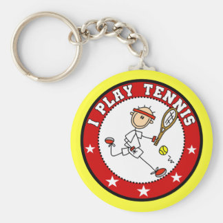 Mens I Play Tennis Tshirts and Gifts Basic Round Button Keychain