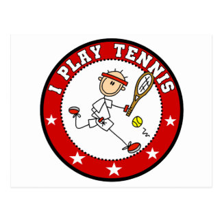 Mens I Play Tennis Tshirts and Gifts Postcard