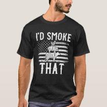 Mens Id Smoke That Grilling Smoking Meat Smoker Am T-Shirt