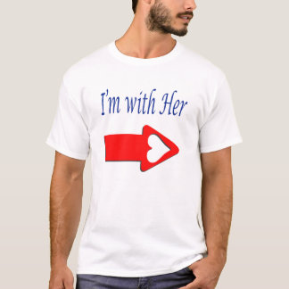 """Mens' """"I'm With Her"""" T-Shirt"""