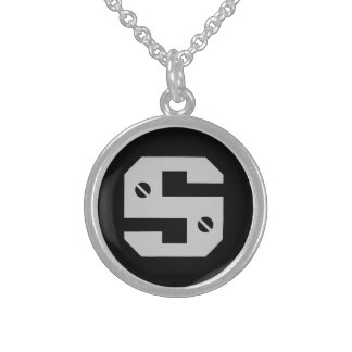 Men's Initial Sterling Silver Necklace