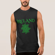 Men's Ireland Celtic Knot Sleeveless T-shirt at Zazzle