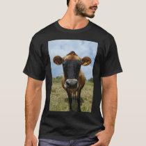 Mens' Jersey cow T-shirt black