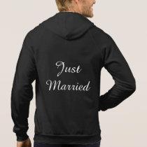 Mens Just Married Hoodie