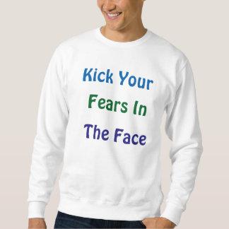 Mens Kick Your Fears Sweatshirt Jumper
