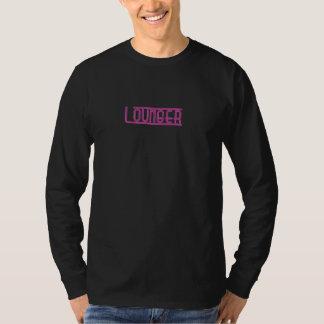 Men's L/S basic Lounger Tee black/pink