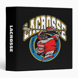 Men's Lacrosse Logo Binder