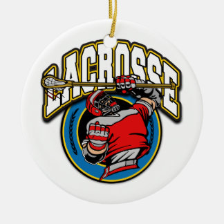 Men's Lacrosse Logo Ceramic Ornament