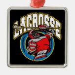 Men's Lacrosse Logo Christmas Ornament