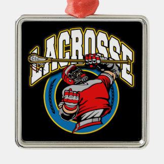 Men's Lacrosse Logo Metal Ornament