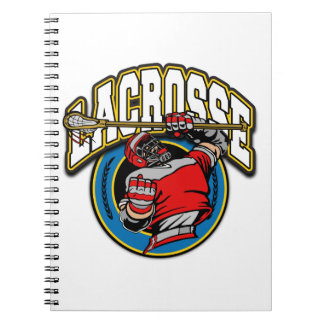 Men's Lacrosse Logo Notebook