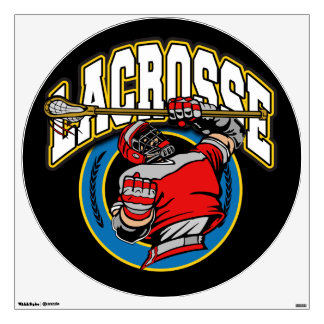 Men's Lacrosse Logo Wall Sticker