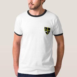 Men's Left Chest Crest Ringer Tshirt