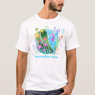 Men's Light T-shirts - Under The Sea Pop Art