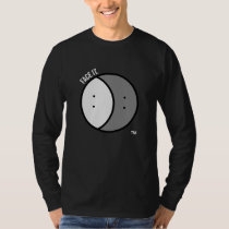 Men's long sleeve t-shirt dark with white text