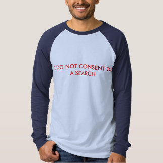 Men's Long Sleeve T-Shirt w/ I do not consent to a