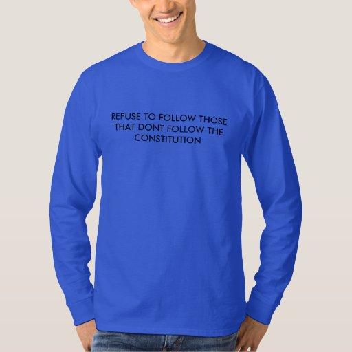 Men's Long Sleeve T-Shirt w/ Refuse to follow