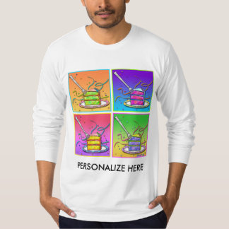 Men's Long Sleeve Tees - Pop Art Cake