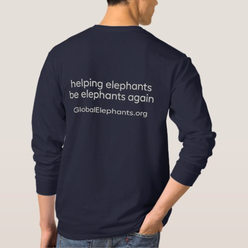 Mens long_sleeved Elephant Sanctuary Brazil tees
