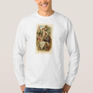 Mens Long sleeved T-Shirt: St. Joseph Nativity Tee Shirts