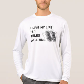 Men's LS Wicking - Life 13.1 miles at a time T-Shirt
