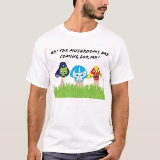 Mens-Luchador Mushrooms Shirt