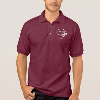 Men's Maroon Polo Shirt Uniform with Business Logo