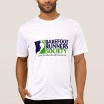 mens microfiber logo+url t shirt