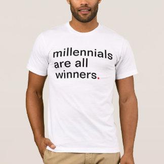 Men's millennials are all winners. T-Shirt
