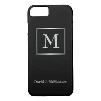 Men's Monogram Black Silver Executive Case