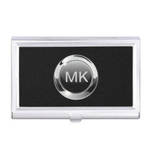 Men's Monogram Business Card Case