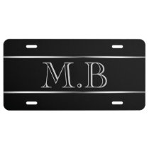 Men's Monogram License Plate