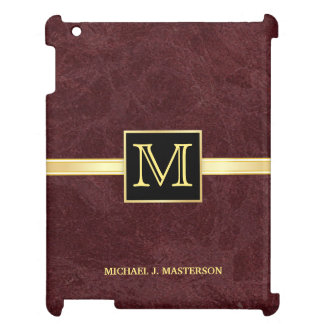 Men's Monogram Marbled Burgundy Executive Case Case For The iPad