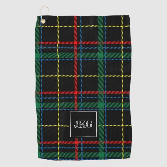 Golfers Plaid Messenger Bag Personalized