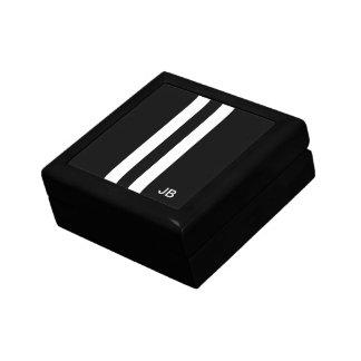 Mens Monogrammed Racing Stripe Gift Box