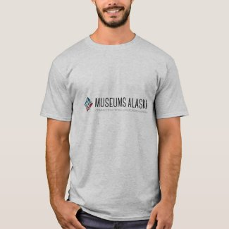 Men's Museums Alaska Horizontal Logo Grey T-Shirt