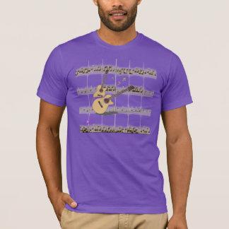 Mens' Music & Guitars Purple Organic T-Shirt