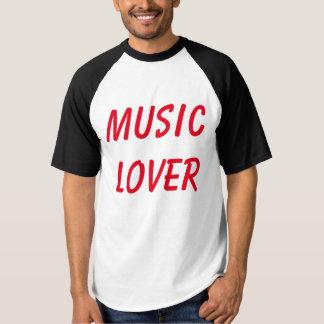 """Men's """"Music Lover"""" Marker Style PandA Tee"""