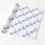 Men's Nautical Boat Anchor Wrapping Paper