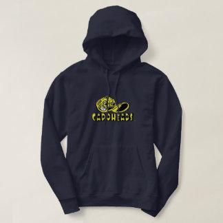 Men's Navy Sweatshirt Hoodie w/Yellow Logo