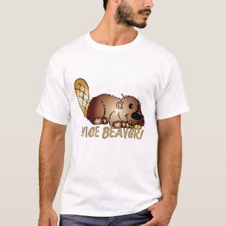 Men's Nice Beaver Fun T Shirt, Cute Beaver T-Shirt