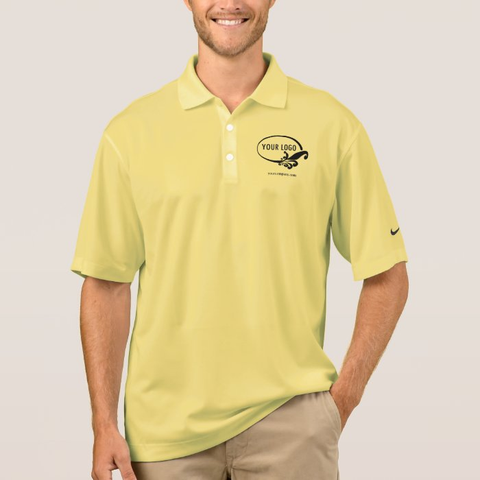 Men 39 s nike dri fit custom logo business polo shirt zazzle for Custom dri fit t shirts