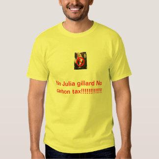 Mens no Julia gillard no carbon tax shirt