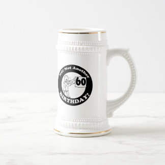 Mens Not My 60th Birthday Gifts Beer Stein