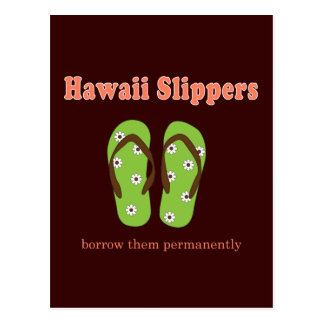 Mens Novelty Slippers Post Cards